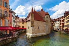 Annecy, αποκαλούμενο Βενετία των Άλπεων, Γαλλία Στοκ Εικόνα