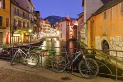 Annecy, αποκαλούμενο Βενετία των Άλπεων, Γαλλία Στοκ Φωτογραφίες
