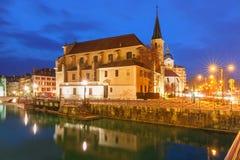 Annecy, αποκαλούμενο Βενετία των Άλπεων, Γαλλία Στοκ εικόνες με δικαίωμα ελεύθερης χρήσης