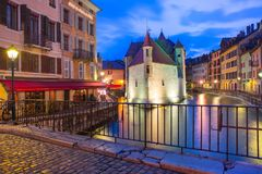 Annecy, αποκαλούμενο Βενετία των Άλπεων, Γαλλία Στοκ Φωτογραφία