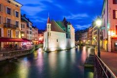 Annecy, αποκαλούμενο Βενετία των Άλπεων, Γαλλία Στοκ Εικόνες