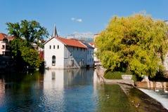 Annecy, Γαλλία, του χωριού όψη Στοκ εικόνες με δικαίωμα ελεύθερης χρήσης