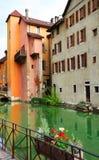 ANNECY, στις 18 Απριλίου 2017 - η αρχιτεκτονική του Annecy, κάλεσε τη Βενετία των Άλπεων Γαλλία, Ευρώπη Στοκ φωτογραφίες με δικαίωμα ελεύθερης χρήσης