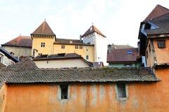 ANNECY, στις 18 Απριλίου 2017 - η αρχιτεκτονική του Annecy, κάλεσε τη Βενετία των Άλπεων, Γαλλία, Ευρώπη Στοκ φωτογραφίες με δικαίωμα ελεύθερης χρήσης