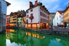 ANNECY, στις 18 Απριλίου 2017 - η αρχιτεκτονική του Annecy, κάλεσε τη Βενετία των Άλπεων Γαλλία, Ευρώπη Στοκ εικόνες με δικαίωμα ελεύθερης χρήσης