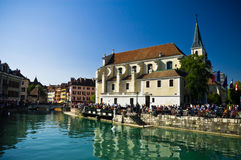 Annecy. View of the central canal in Annecy, France Stock Photography