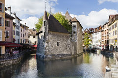 Annecy. View of the old prison in Annecy, France Royalty Free Stock Photography