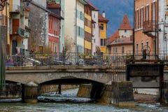 Annecy Alte Stadt Stockbilder