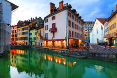 ANNECY, APRIL 18, 2017 - Architecture of Annecy , called the  Venice of the Alps France, Europe Royalty Free Stock Images