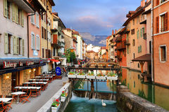 ANNECY, APRIL 18, 2017 - Architecture of Annecy , called the  Venice of the Alps France, Europe Stock Photography