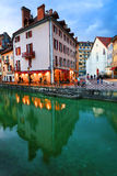 ANNECY, APRIL 18, 2017 - Architecture of Annecy , called the  Venice of the Alps, France, Europe Stock Photos