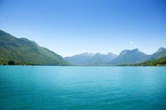 annecy błękit jezioro Obraz Stock