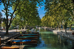 Annecy. Bas been called the Alpine Venetia since a long time, with its canals crossing the historic town Stock Image