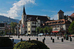 Annecy. Bas been called the Alpine Venetia since a long time, with its canals crossing the historic town Royalty Free Stock Image