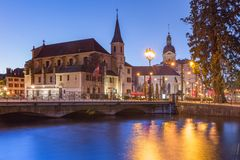 Annecy, called Venice of the Alps, France stock images