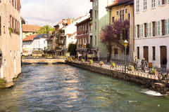 Annecy - Canal City in Eastern France Stock Photo