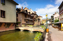 Annecy - Canal City in Eastern France Stock Images