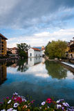 Annecy Canal Historic City Center Stock Images