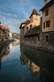 Annecy Canal Island Prison Rear Stock Photo