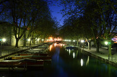 Annecy canal Royalty Free Stock Photography