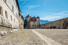 Annecy Castle, ή πύργος δ ` Annecy στην πόλη του Annecy, Γαλλία Στοκ εικόνες με δικαίωμα ελεύθερης χρήσης