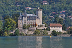 The Annecy Castle. The Château dAnnecy is a restored castle which dominates the old French town of Annecy in the Haute-Savoie département. It was bought by the Stock Image