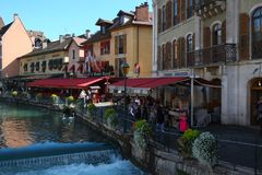 Annecy city, France royalty free stock image