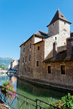 Annecy city and channel view Royalty Free Stock Photo