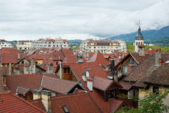 Annecy in cloudy day Royalty Free Stock Photo