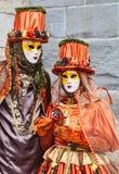 Couples déguisés Images libres de droits