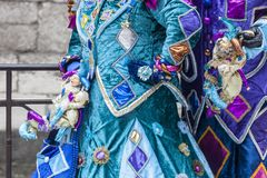 Costume Detail - Annecy Venetian Carnival 2013 Stock Image