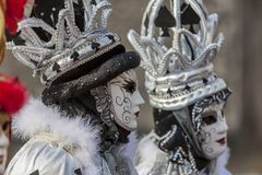 Disguised Couple - Annecy Venetian Carnival 2013 Stock Photos