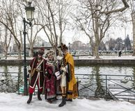 Disguised Group - Annecy Venetian Carnival 2013 Royalty Free Stock Images
