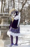 Cupid Disguised Person - Annecy Venetian Carnival 2013 Royalty Free Stock Photo