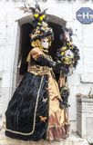 Disguised Person - Annecy Venetian Carnival 2013 Stock Image