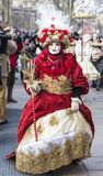 Disguised Person - Annecy Venetian Carnival 2013 Royalty Free Stock Photos