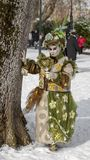 Disguised Person - Annecy Venetian Carnival 2013 Royalty Free Stock Photo