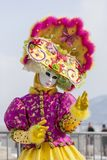 Disguised Person - Annecy Venetian Carnival 2013 Stock Photo