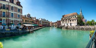ANNECY, FRANCE - JULY 10, 2018, view of Annecy city Royalty Free Stock Photography
