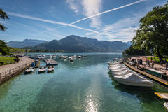 Annecy lake, France Royalty Free Stock Image