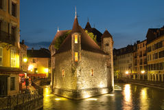 Annecy, Francia. The Palais de l'Isle in Annecy Stock Images