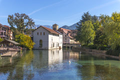Annecy, Francia, opinión del pueblo Foto de archivo