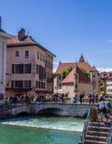 Annecy, Frankrijk, Schilderachtige Alpiene stad in zuidoostelijk Frankrijk, aka de ?Parel van Frans Alpen of ?Veneti? van de Alpe royalty-vrije stock afbeeldingen
