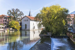 Annecy Frankrike, bysikt Royaltyfria Foton
