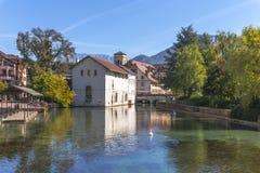Annecy Frankrike, bysikt Arkivfoto