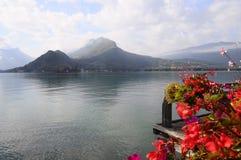 Annecy jezioro przy Talloires, Francja Fotografia Royalty Free