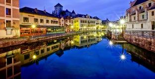 Annecy Kanaal, Frankrijk royalty-vrije stock fotografie