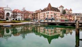 Annecy Kanaal, Frankrijk stock afbeeldingen