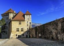 Annecy kasteel, Frankrijk Stock Foto's