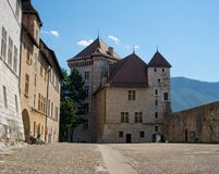 Annecy Kasteel in Haute Savoie Frankrijk royalty-vrije stock fotografie